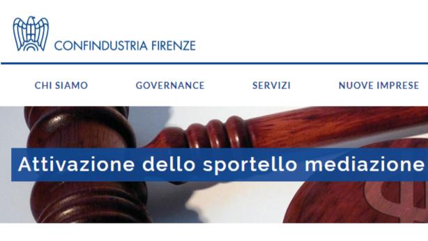 Sportello Mediazione presso Confindustria Firenze